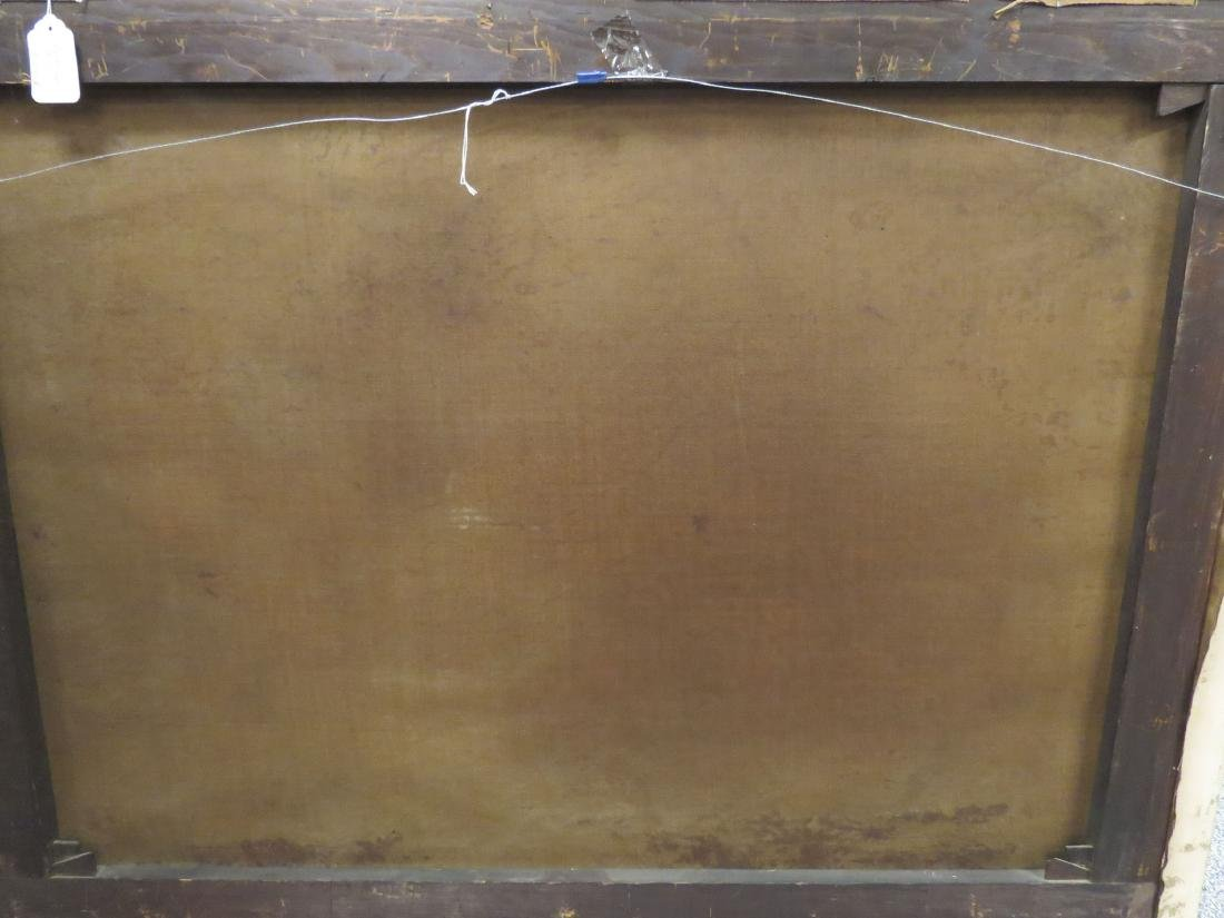 19TH C LARGE LANDSCAPE PAINTING WITH MILL - 5