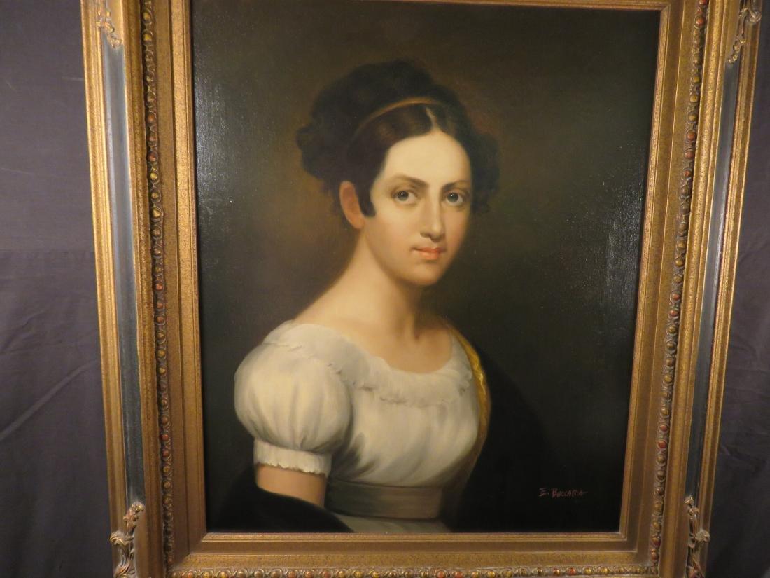 PORTRAIT OF A LADY SIGNED E. BECCARIA