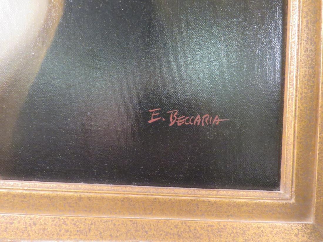 PORTRAIT OF A LADY SIGNED E. BECCARIA - 3