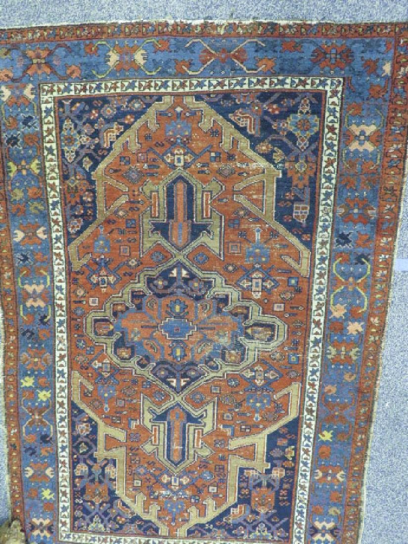 """ANTIQUE PERSIAN HAND KNOTTED WOOL RUG 4'5"""" X 6'8"""""""