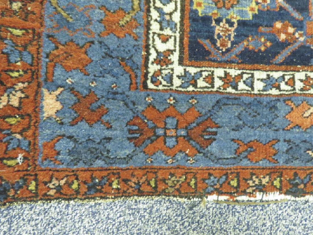 """ANTIQUE PERSIAN HAND KNOTTED WOOL RUG 4'5"""" X 6'8"""" - 2"""