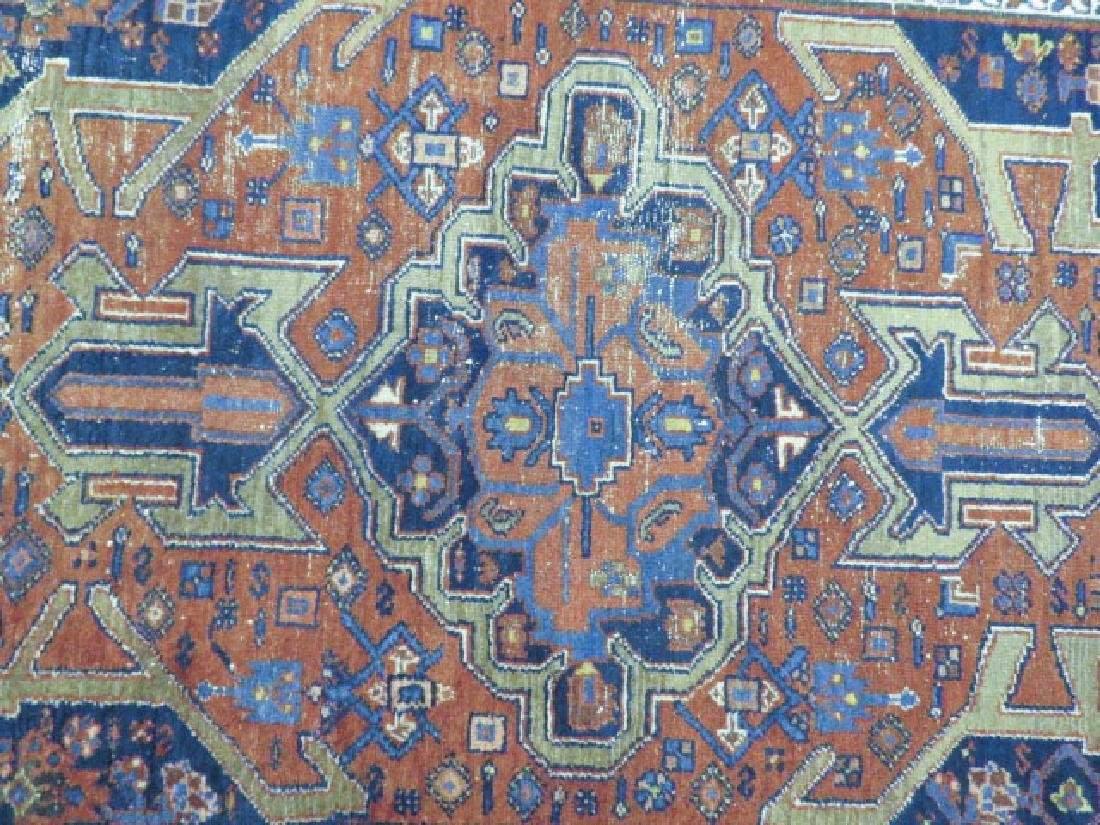 """ANTIQUE PERSIAN HAND KNOTTED WOOL RUG 4'5"""" X 6'8"""" - 3"""