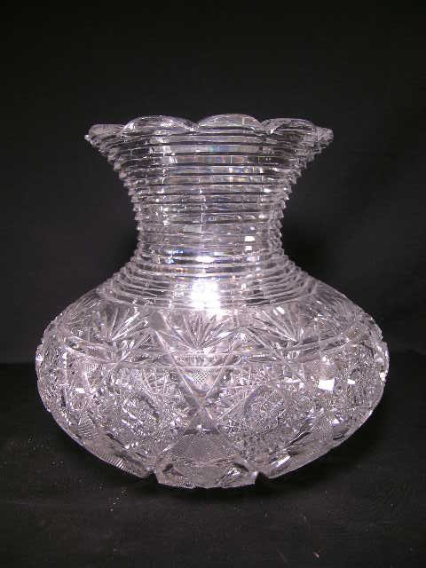 401: VERY LARGE AMERICAN BRILLIANT CUT CRYSTAL VASE