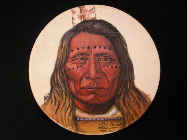 6: NATIVE AMERICAN INDIAN BLACKFOOT NEZ PERCE HIDE DRUM