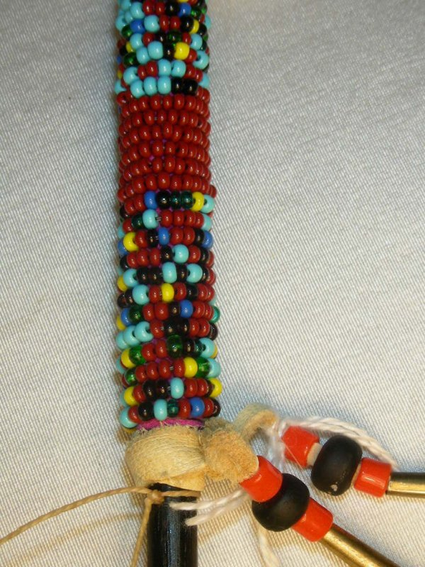 99: NATIVE AMERICAN INDIAN TALKING STICK & HAND RATTLE - 7
