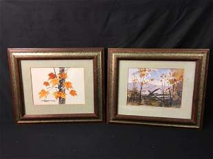 TWO WATERCOLOR PAINTINGS BY KEN SCHULZ