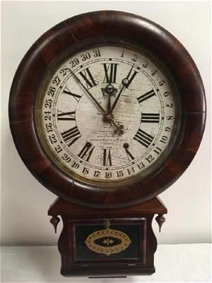 ANSONIA BRASS & COPPER CO CALENDAR CLOCK