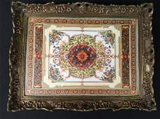 BRONZE MOUNTED PORCELAIN TRAY