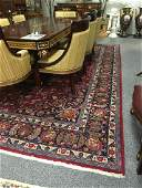 HAND KNOTTED KASHAN PERSIAN WOOL RUG 9' X 13'