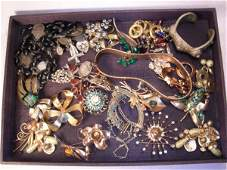 1026 GROUP ASSORTED STERLING SILVER  COSTUME JEWELRY