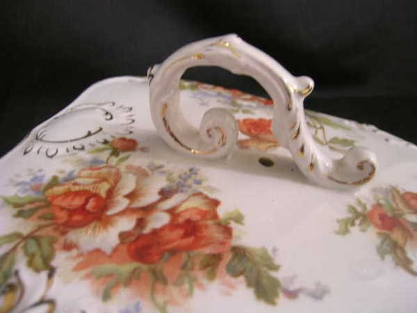 800: ANTIQUE PORCELAIN GRIMWADES COVERED CHEESE KEEPER - 2