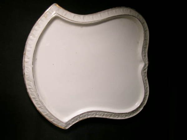 800: ANTIQUE PORCELAIN GRIMWADES COVERED CHEESE KEEPER - 4