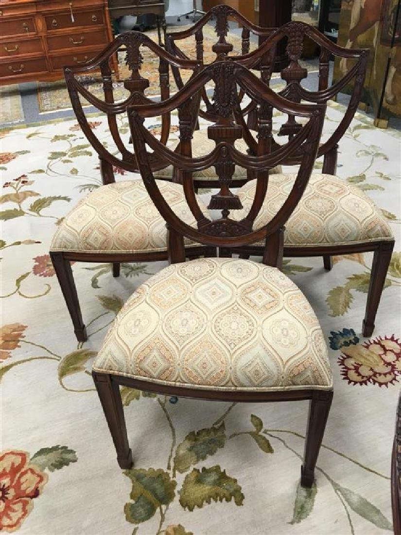 FOUR MAITLAND-SMITH SHIELD-BACK CHAIRS