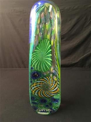 JAMES NOWAK MONUMENTAL ART GLASS PAPERWEIGHT