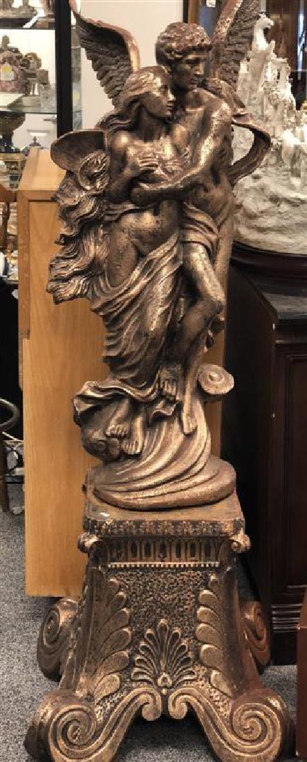 SCULPTURE: GUARDIAN ANGEL & NUDE WOMAN