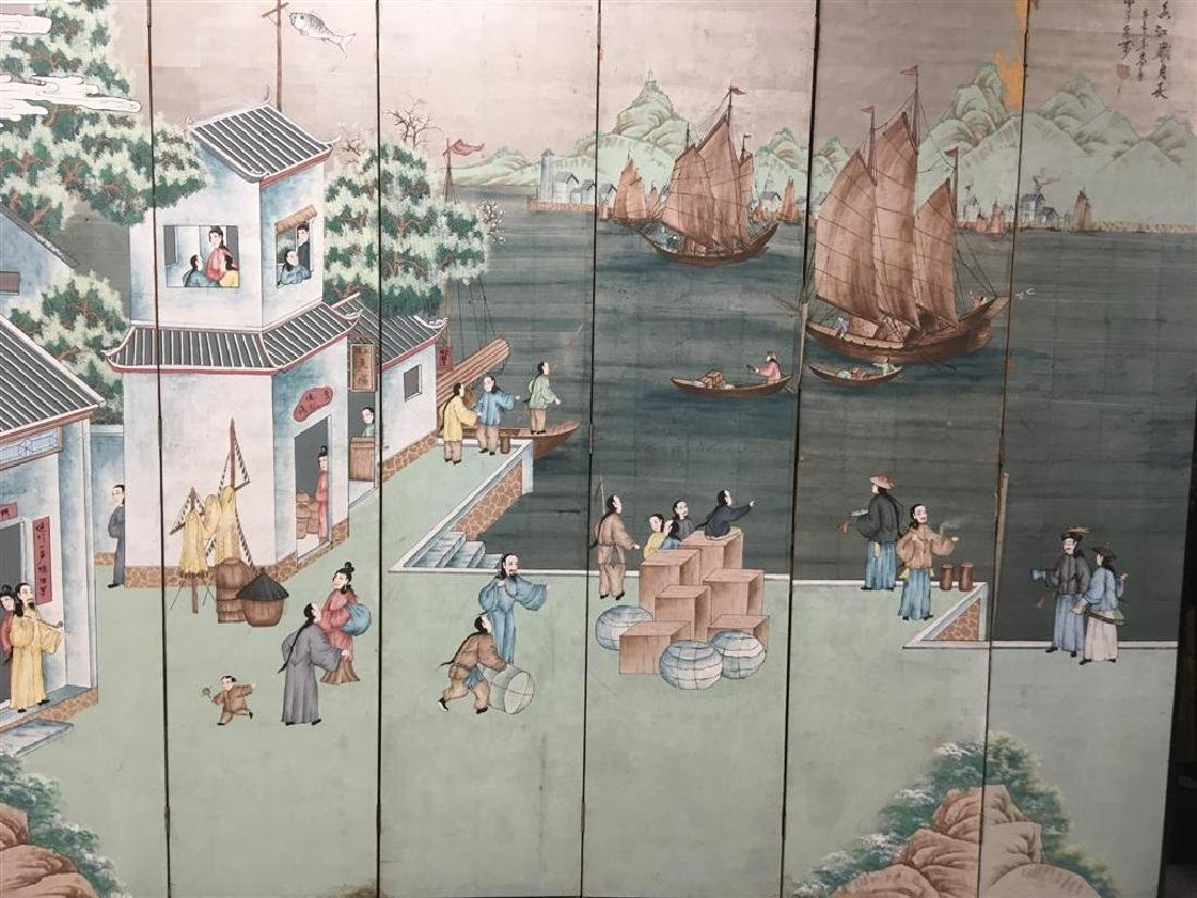 EARLY 20TH CENTURY CHINESE HAND PAINTED SCREEN