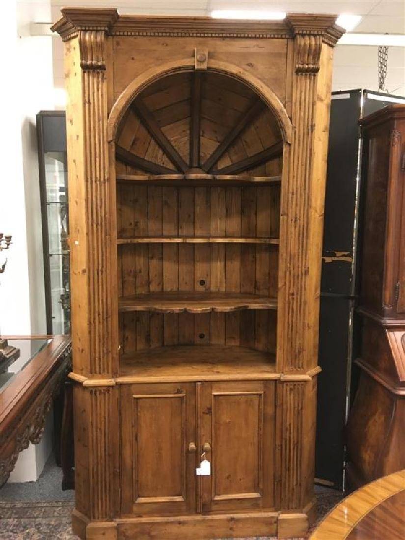 LARGE FRENCH COUNTRY STYLE PINE CORNER CABINET