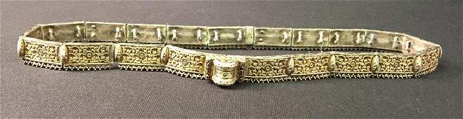 ANTIQUE IMPERIAL RUSSIAN NIELLO SILVER BELT