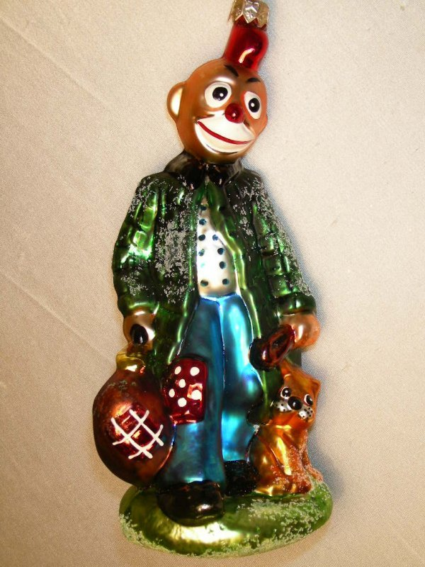 2: CHRISTOPHER RADKO ORNAMENT HOBO CLOWN