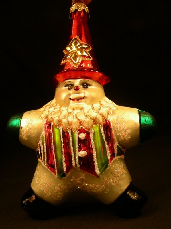 5: CHRISTOPHER RADKO ORNAMENT STAR SNOW MAN