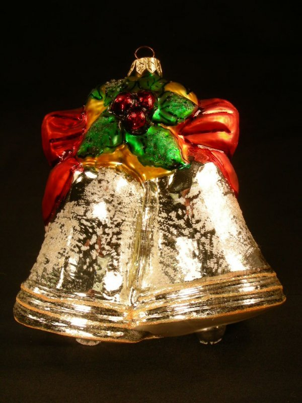 20: CHRISTOPHER RADKO ORNAMENT TWIN SILVER BELLS