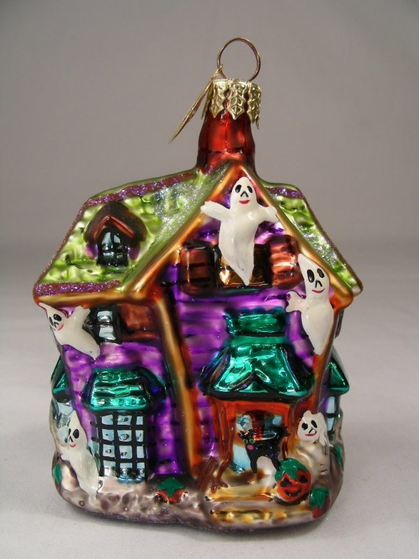 22: CHRISTOPHER RADKO ORNAMENT HALLOWEEN GHOST HOUSE