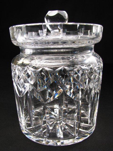 255: WATERFORD CRYSTAL BISCUIT JAR