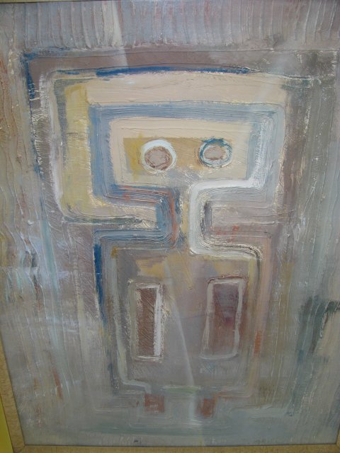 650: LARGE ABSTRACT PAINTING SIGNED ALEXIS