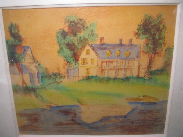 "658: LITHOGRAPH PRINT TITLED "" ICE POND HOME"""
