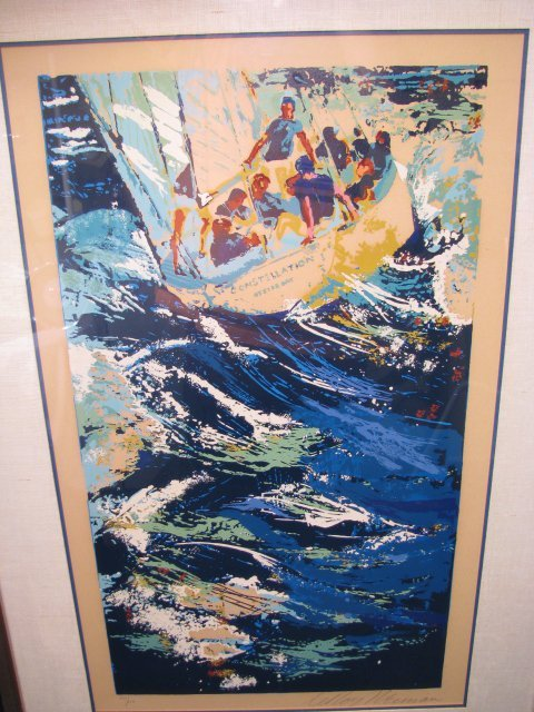 914: LEROY NEIMAN SIGNED LITHOGRAPH SERIGRAPH SAILING
