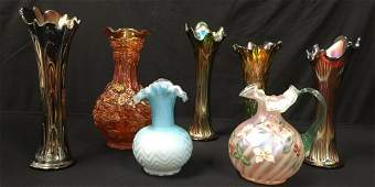 ART GLASS CARNIVAL NORTHWOOD VICTORIAN etc 7PC