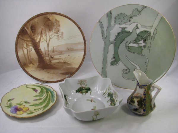 22: HAND PAINTED PORCELAIN LIMOGES NIPPON ITALIAN ETC