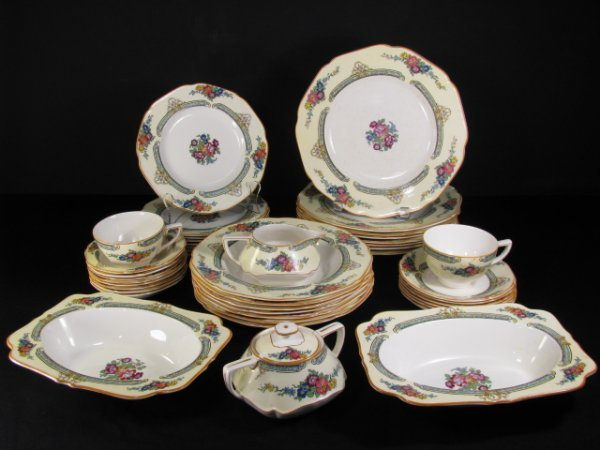 23: CROWN DUCAL WARE CHINA REGD # 72944 49 PIECES