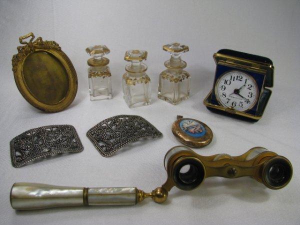 362: OPERA GLASSES SHOE BUCKLES FRAME PERFUME BOTTLES