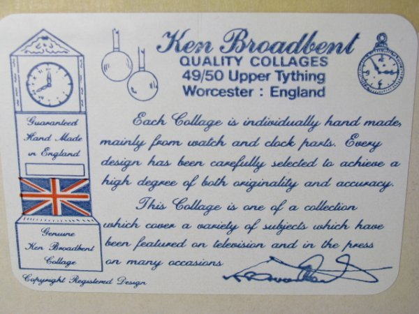 483: KEN BROADBENT WRIST WATCH COLLAGE ROLLS ROYCE 1929 - 10