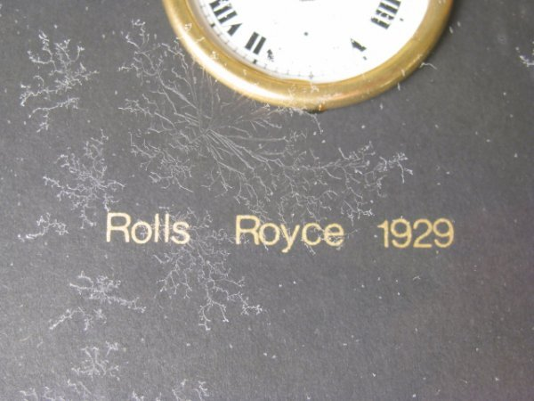 483: KEN BROADBENT WRIST WATCH COLLAGE ROLLS ROYCE 1929 - 6