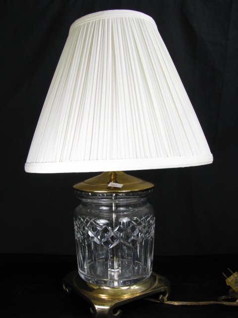 664: PAIR OF WATERFORD CRYSTAL LAMPS W/CRESCENT BASES - 2
