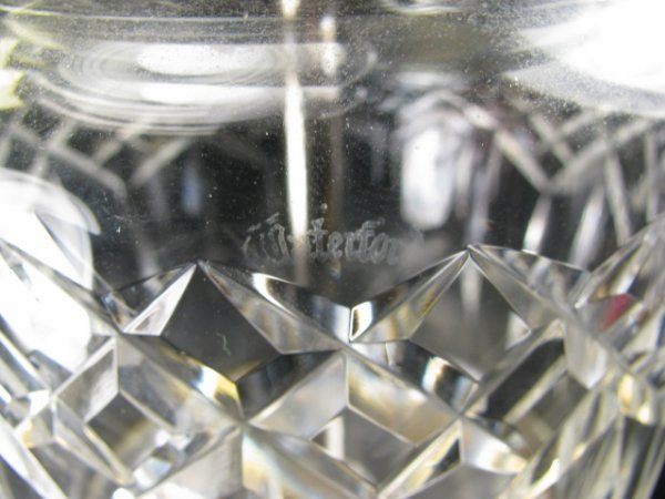 664: PAIR OF WATERFORD CRYSTAL LAMPS W/CRESCENT BASES - 8