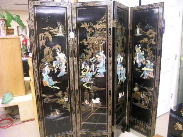 22: ASIAN  STYLE FOUR PANEL DIVIDER PRIVACY SCREEN