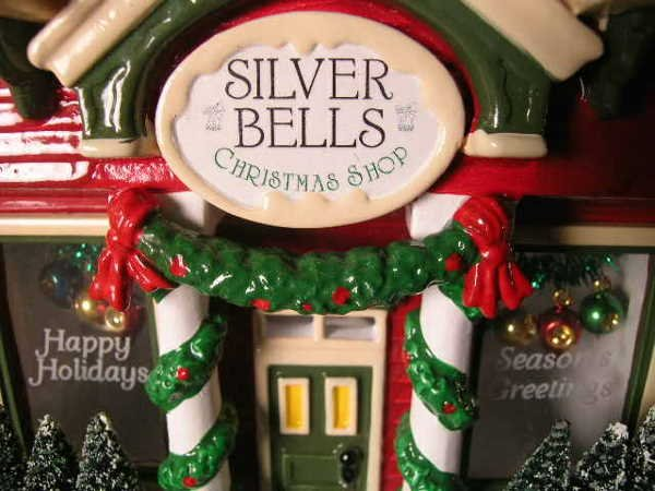 368: SNOW VILLAGE SILVER BELLS CHRISTMAS SHOP RETIRED - 5