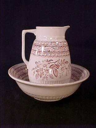 ANTIQUE WASH BASIN AND PITCHER