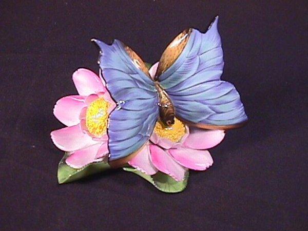 21: HEREND PORCELAIN FLOWER FIGURINE