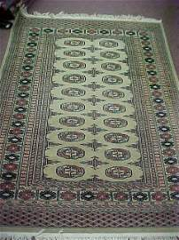 """282: OLD HAND WOVEN PERSIAN CARPET 71"""" X 50"""""""