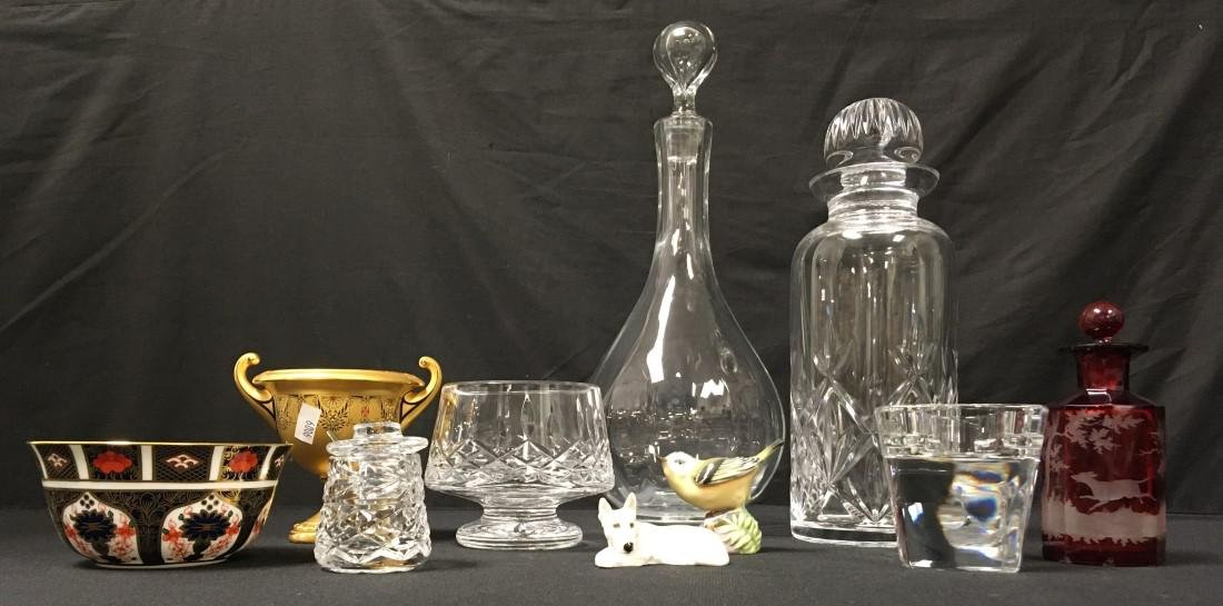 COLLECTABLES LOT: WATERFORD, ROYAL DOULTON, ETC