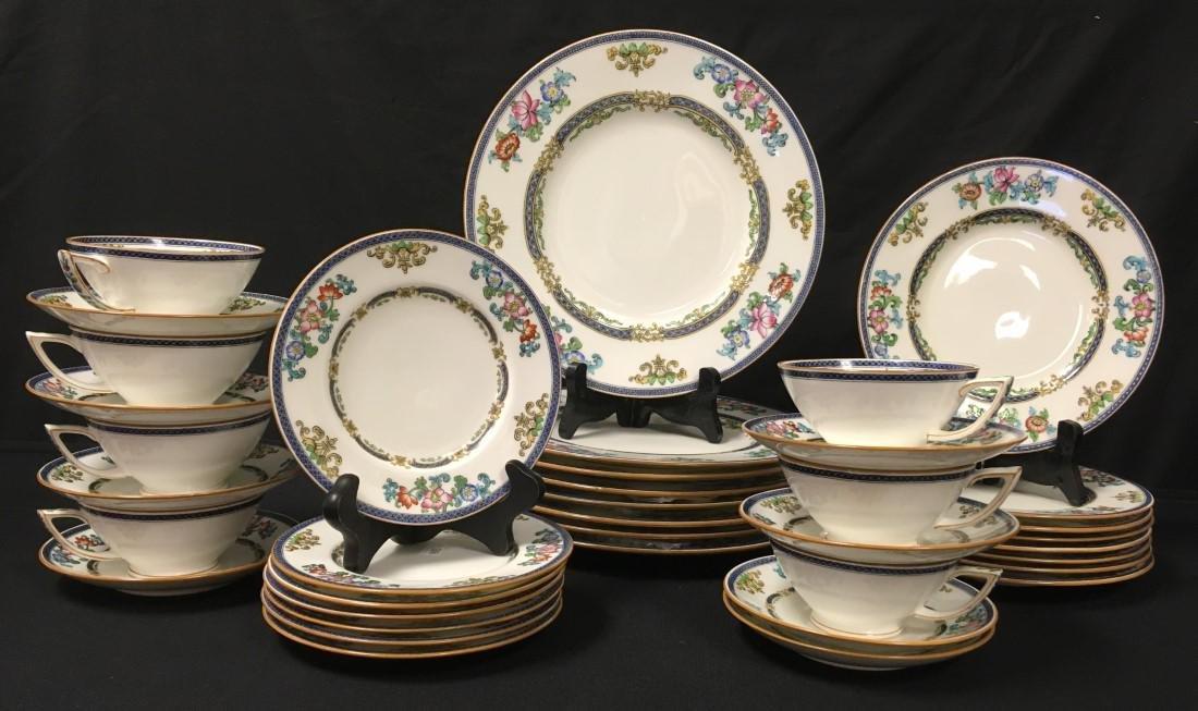 MINTONS FLORAL PORCELAIN DINNERWARE: 38 PCS