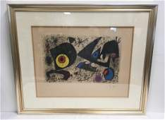"JOAN MIRO ""HOMMAGE A MIRO"" SIGNED COLOR LITHOGRAPH"