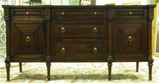 HICKORY CHAIR FLAME MAHOGANY SIDEBOARD CABINET