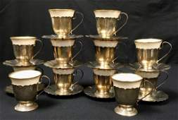 TWELVE LENOX WEBSTER STERLING SILVER DEMITASSE CUP