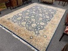 LARGE HAND MADE PERSIAN WOOL SILK BLEND RUG 9 x 12