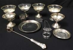 STERLING SILVER TABLEWARES NAPKIN RINGS SHERBET